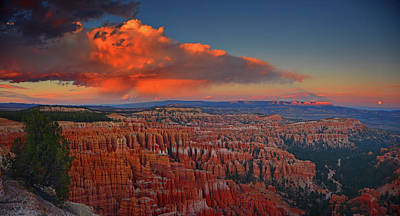 Photograph - Harvest Moon Over Bryce National Park by Raymond Salani III