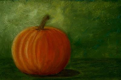 Harvest Moon Pumpkin Art Print by Cheryl Albert