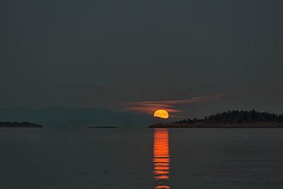 Photograph - Harvest Moon by Randy Hall