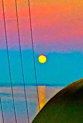 Mars Lasar Photograph - Harvest Moon Rising by Cadence Spalding
