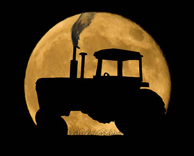 Dark Photograph - Harvest Moon by Shane Bechler