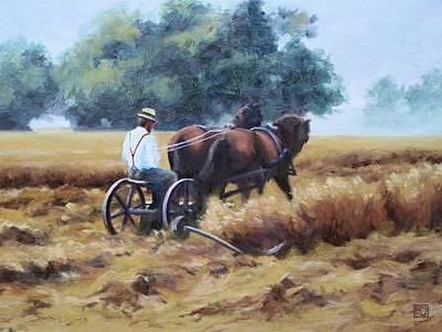 Painting - Harvest Morning by David Rodman Johnson