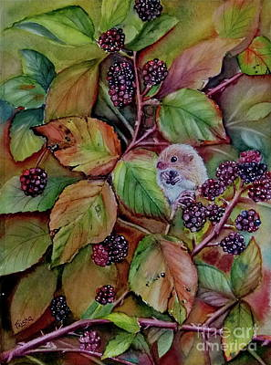 Field Mice Painting - Harvest Of Plenty by Patricia Pushaw