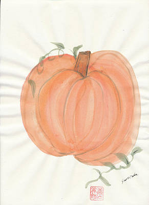Painting - Harvest Pumpkin by Dawn Marie Black