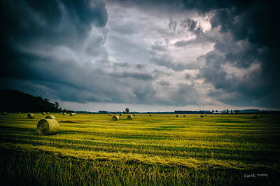 Photograph - Harvest Sky by Edser Thomas