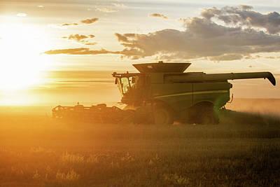 Wheat Silhouette Photograph - Harvest Sun by Todd Klassy