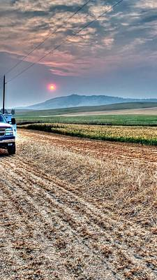 Photograph - Harvest Sunset 7168 by Jerry Sodorff