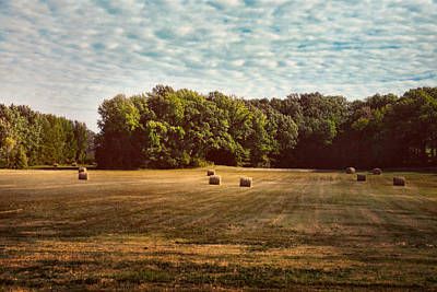 Tennessee Hay Bales Photograph - Harvest Time by Jai Johnson