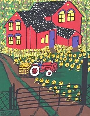 Michigan State Drawing - Harvest Time. by Jonathon Hansen