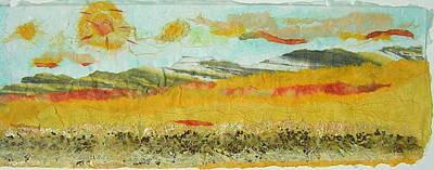 Harvest Time On The Prairies Art Print by Naomi Gerrard
