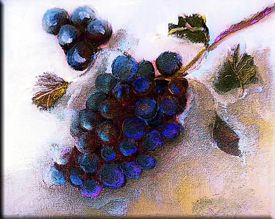 Photograph - Harvest Wine Grapes On Canvas Painting by Lisa Kaiser