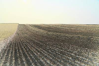 Photograph - Harvested Field 7075 by Jerry Sodorff