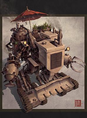 Science Fiction Mixed Media - Harvester by James Ng