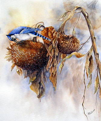 Painting - Harvesting-blue Jay by Mary McCullah