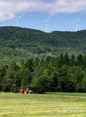 Photograph - Harvesting Hay And Wind In Western Maine #10290 by John Bald