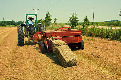 Photograph - Harvesting Hay In Louisiana by Ronald Olivier