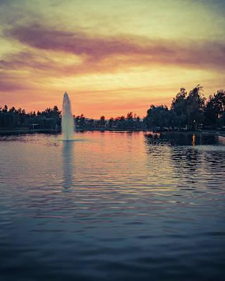Photograph - Harveston Lake Sunset 2016 by Adam Rainoff