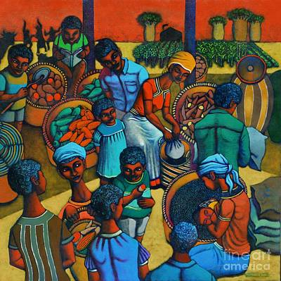 Filipino Painting - Harvestplus Africa by Paul Hilario