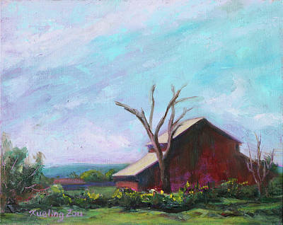 Painting - Harvey Bear Ranch San Martin California Landscape 14 by Xueling Zou