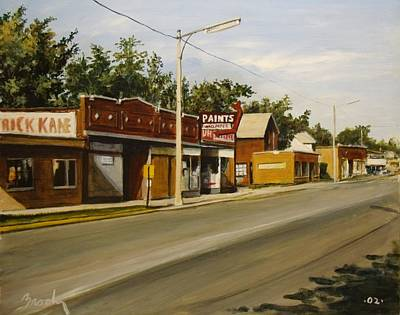 Painting - Harvey Paint Store by William Brody