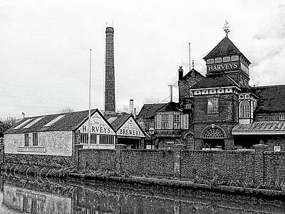 Photograph - Harveys Brewery Lewes Black And White by Dorothy Berry-Lound