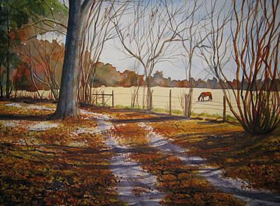Harwell Farm Art Print