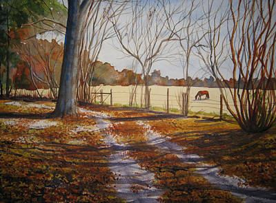 Harwell Farm Original by Shirley Braithwaite Hunt