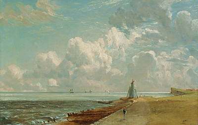 John Constable Painting - Harwich - The Low Lighthouse And Beacon Hill by John Constable