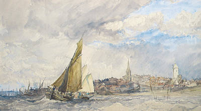 Harwich From The Sea Art Print by Charles Bentley