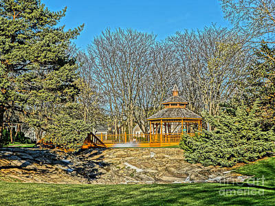 Photograph - Harwycke Gazebo 1 by Bob Brents