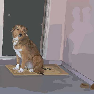 Dog Rescue Digital Art - Has Anybody Seen My Family by Su Humphrey