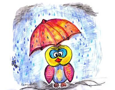 Rainy Day Drawing - Has It Stopped Raining Yet?  by Ramona Matei