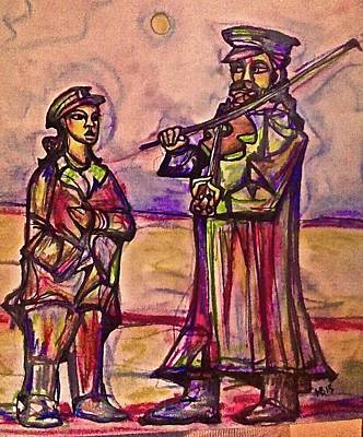 Pastel - Hasid And His Student by Michael Bish