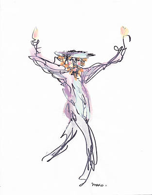 Hasidic Dancer Art Print