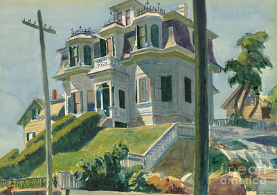 White Picket Fence Painting - Haskell's House, 1924  by Edward Hopper