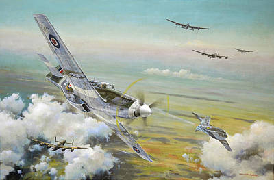 Painting - Haslope's Komet by Colin Parker