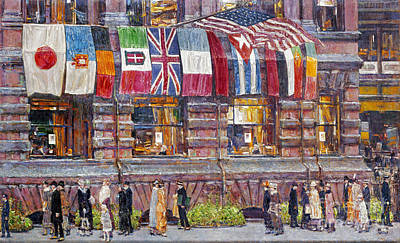 Childe Photograph - Hassam: Allied Flags, 1917 by Granger