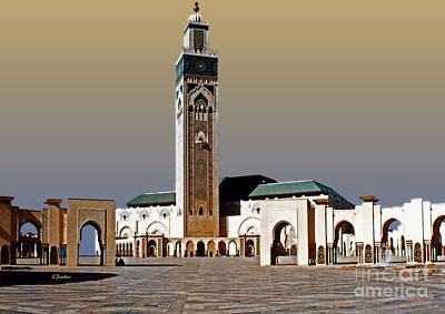 Hassan II Mosque - Morocco Art Print by Linda  Parker