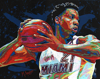 Painting - Hassan Whiteside by Maria Arango