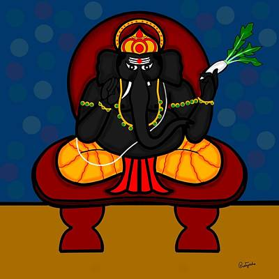 Digital Art - Hastidantaka by Pratyasha Nithin
