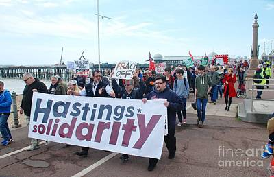 Photograph - Hastings Austerity March by David Fowler