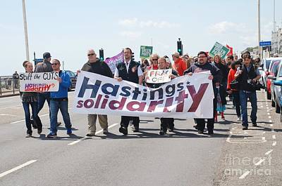 Photograph - Hastings Austerity Protest March by David Fowler