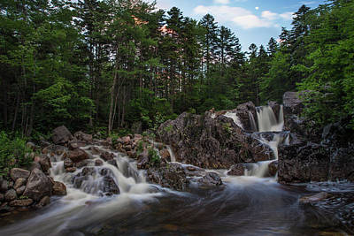 Photograph - Hastings Falls Moonrise by Chris Whiton