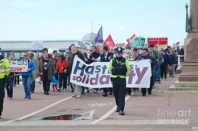 Photograph - Hastings March Against Austerity by David Fowler