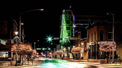 Photograph - Hastings Nebraska Christmas by Susan Rissi Tregoning