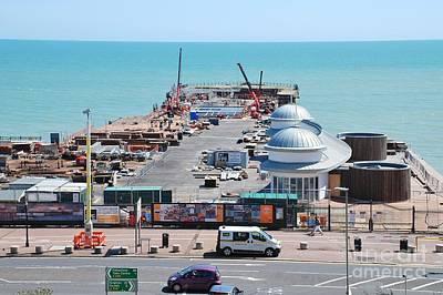 Photograph - Hastings Pier Rebuild by David Fowler