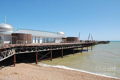 Photograph - Hastings Pier Renovation by David Fowler