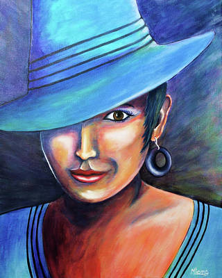 Painting - Hat Affair by Michelle Joseph-Long