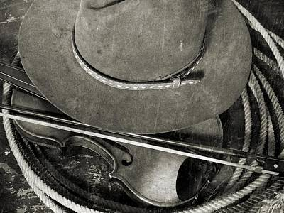 Hat And Fiddle Original by Scott Kingery