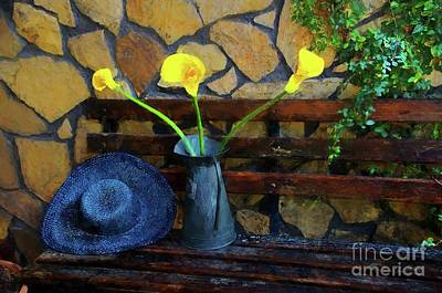 Photograph - Hat And Flowers by John Kolenberg